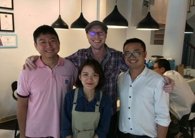 D'Codes Specialty Coffee Lab and Campus Hanoi team