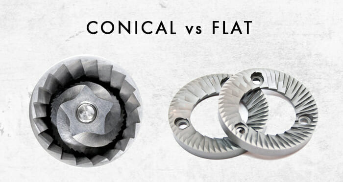 difference between a conical and a flat burr