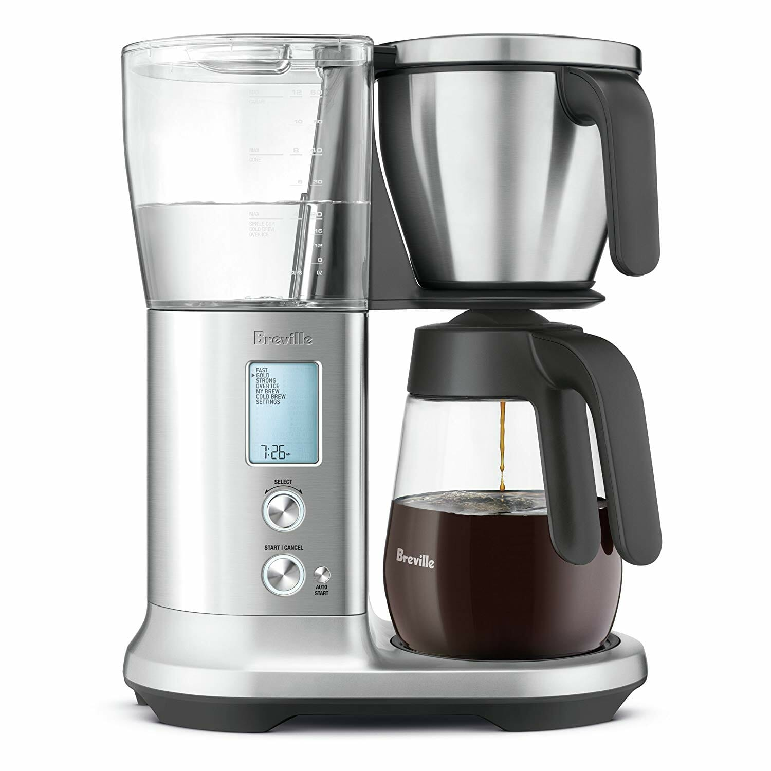 breville coffee brewer with glass carafe