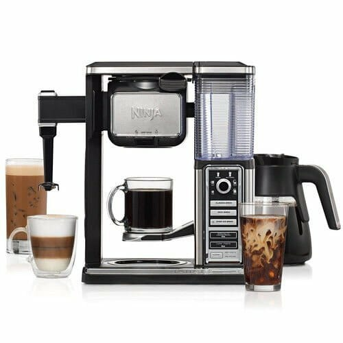 black/silver coffee makers