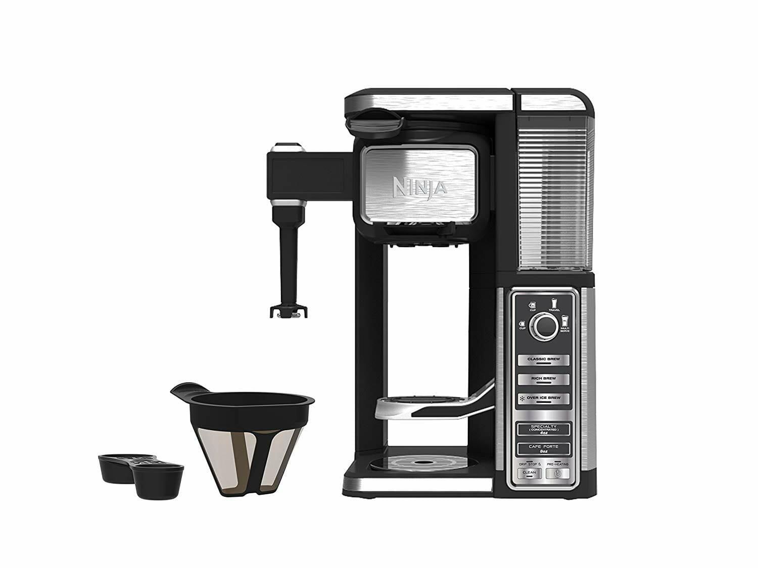 built in hot milk frother for making cappucino