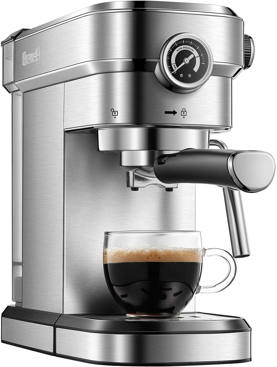 machine with espresso cup