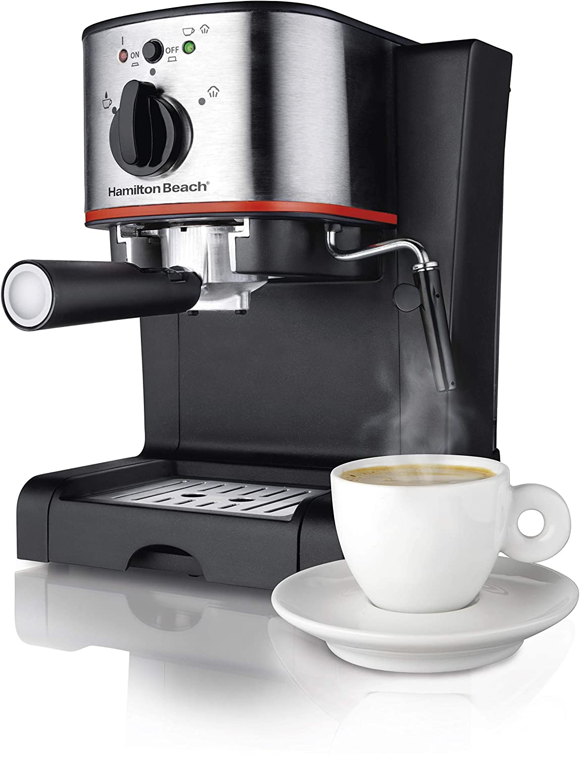 machine with cappuccino cup